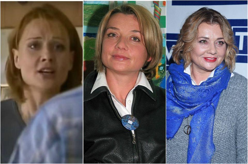 Małgorzata Ostrowska-Królikowska, serialowa Grażyna Lubicz, w latach 1997, 2003 i obecnie.