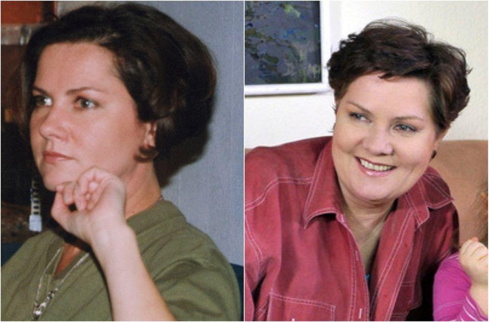Agnieszka Kotulanka, czyli Krystyna Lubicz w 2000 i 2010 roku.
