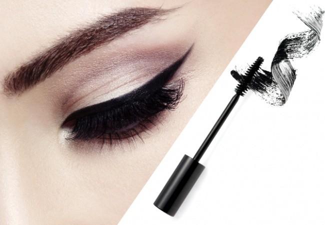 2. Jeśli nie masz eyelinera, użyj maskary.