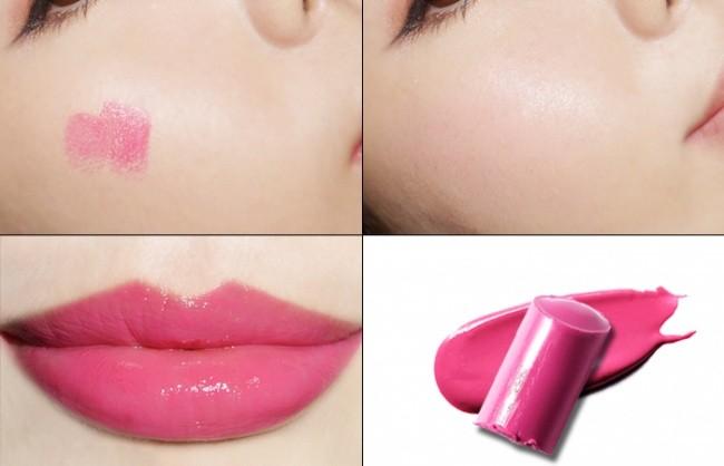 5. Użyj szminki jako różu.