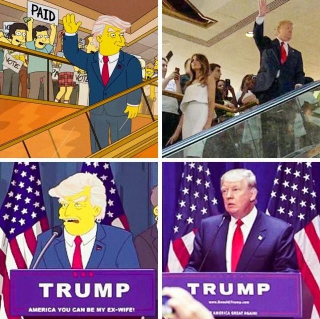 """10 Przepowiednia wygranej Donalda Trumpa w """"Simpsonach"""""""