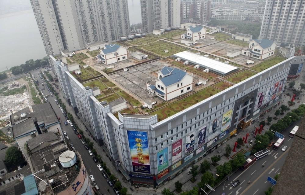3. Domy na dachu centrum handlowego, Hunan, Chiny