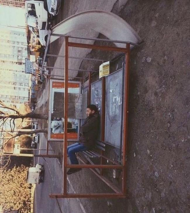 Czekam na autobus