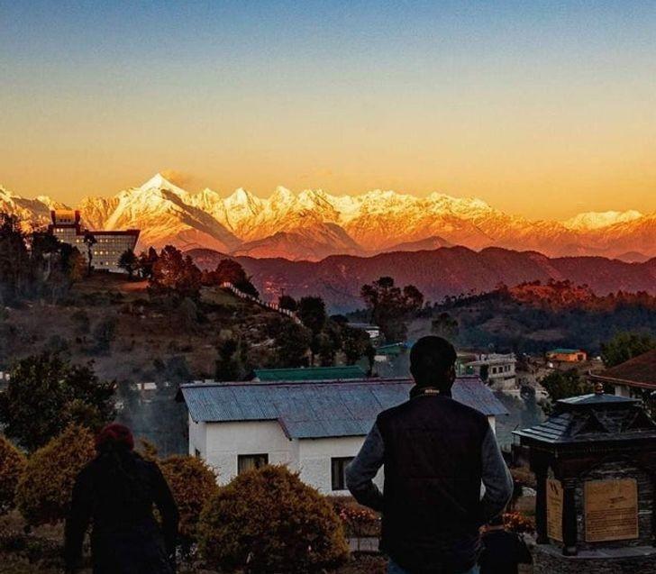 Złоciste szczyty Himalajów
