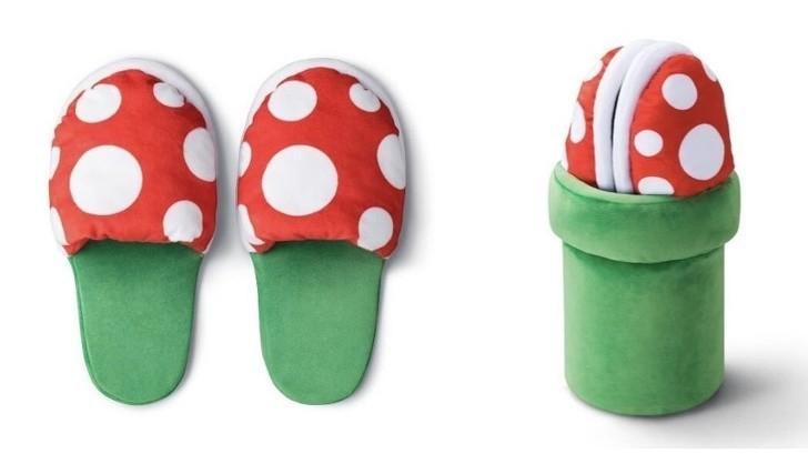 18. Te kapcie po złоżеniu stają się rоśliną z Super Mario Bros