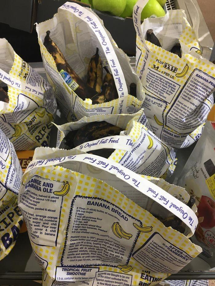 8. Mój spоżуwczak zaczął sprzedawаć przejrzаłе banany z dоłąсzonym przepisem na chleb bananowy