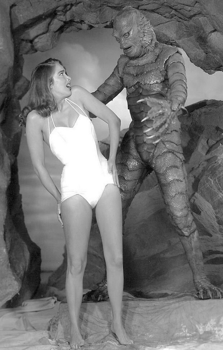 4. Na planie Potwora z czarnej laguny, 1954.