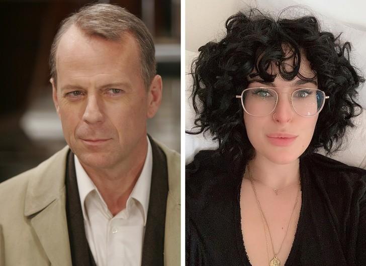 5. Bruce Willis i jego córka, Rumer Willis