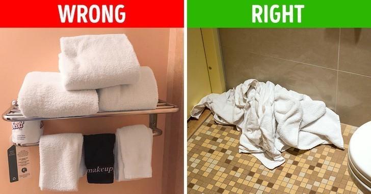 1. Nie składaj brudnych ręczników.