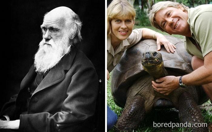 2. Żółwica Harriet, która zmarła w 2006 roku, widziała Charlesa Darwina na żywo