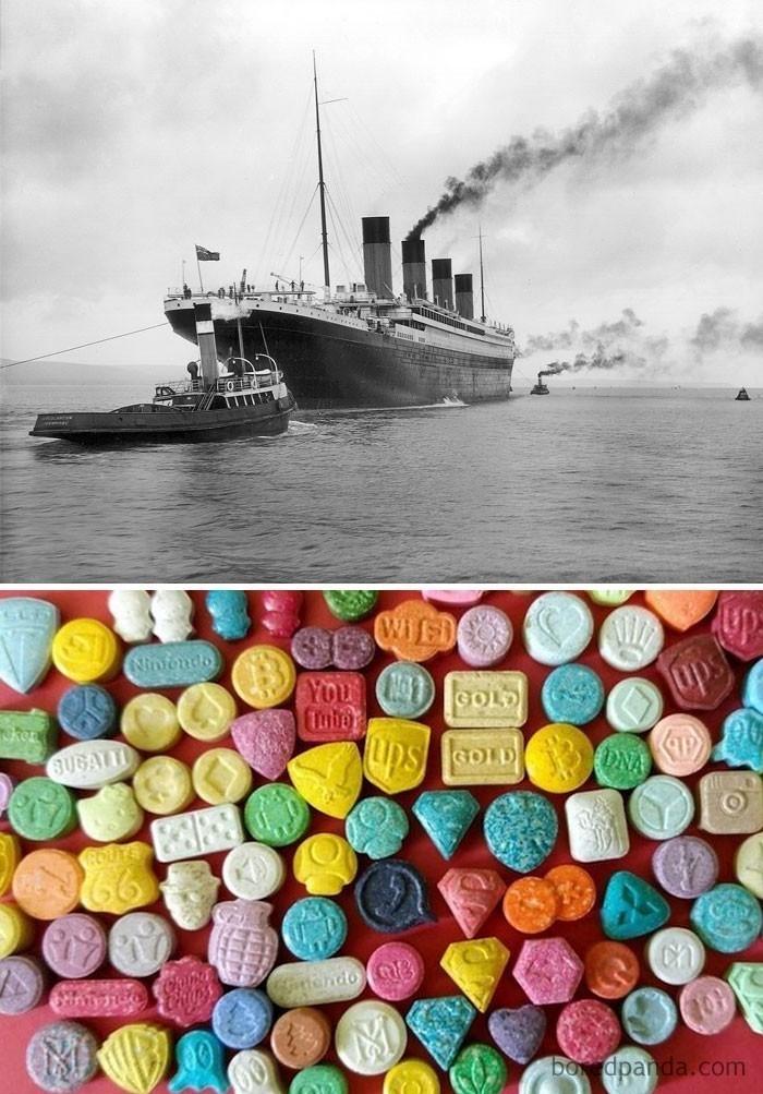13. Ecstasy wynaleziono w tym samym roku, w którym zatonął Titanic (1912)