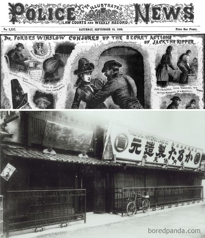 6. Firma Nintendo założona została gdy Kuba Rozpruwacz wciąż terroryzował Londyn (1889)