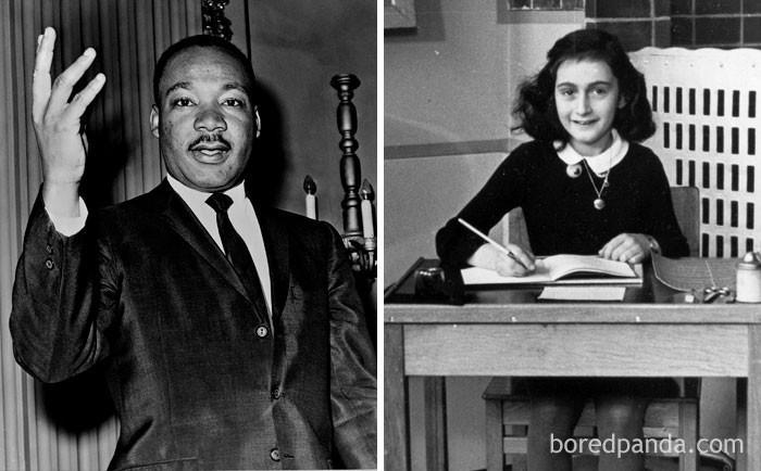 7. Anne Frank i Martin Luther King Jr. urodzili się w tym samym roku (1929)