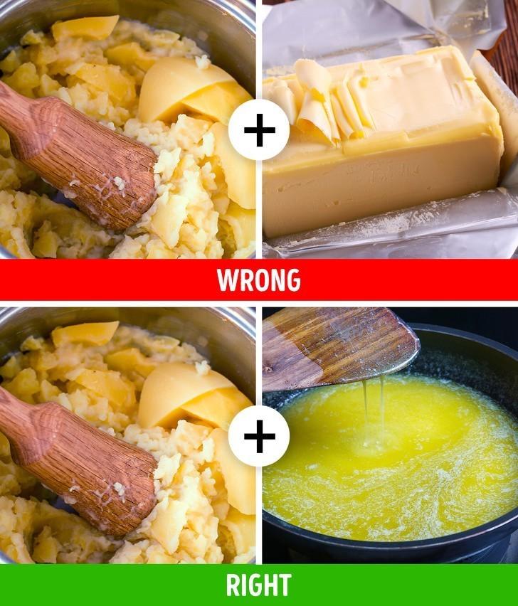 9. Dodawanie zimnego masła do purée
