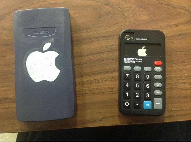 """Mój iPhone zamaskowany jako kalkulator i mój kalkulator zamaskowany jako iPhone"""