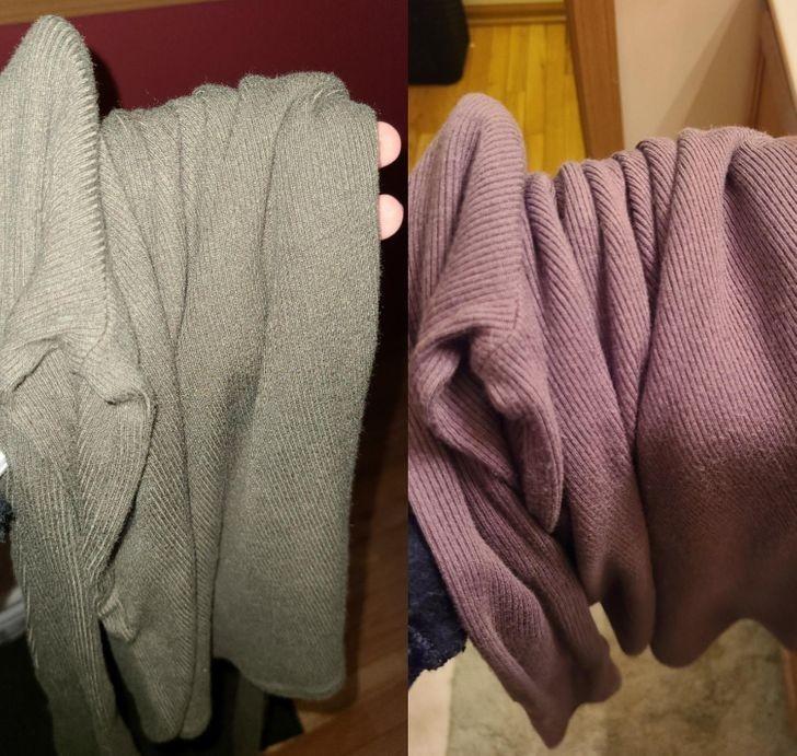 """""""Moja bluzka wydaje się być w dwóch zupełnie różnych kolorach, w zależności od oświetlenia."""""""