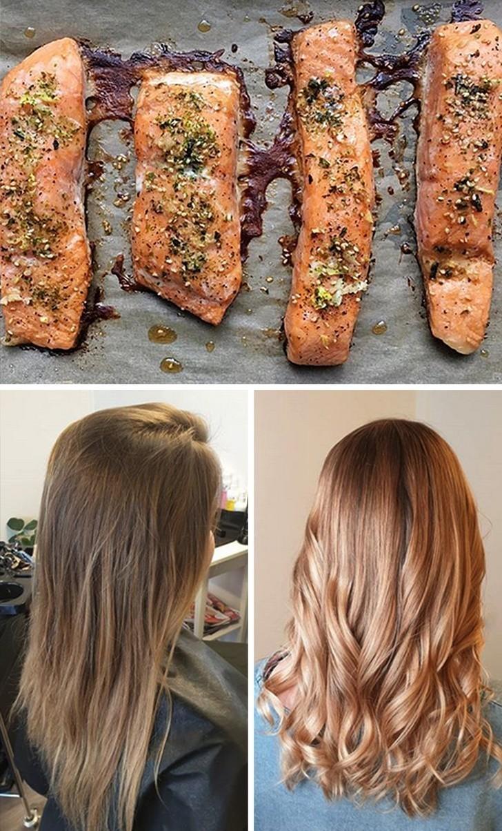 2. Jedzenie łososia sprawi, że twoje włosy będą lśniące i zdrowe