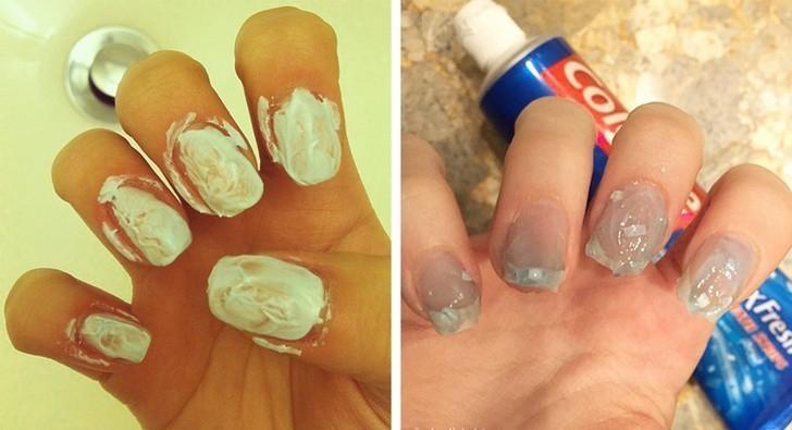 4. Wybiel paznokcie przy użyciu pasty do zębów