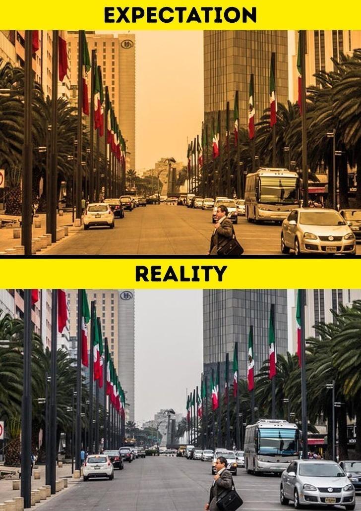 1. Powietrze w Meksyku nie jest żółte.