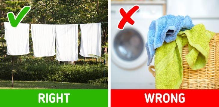 1. Pilnuj, by ręczniki były suche.