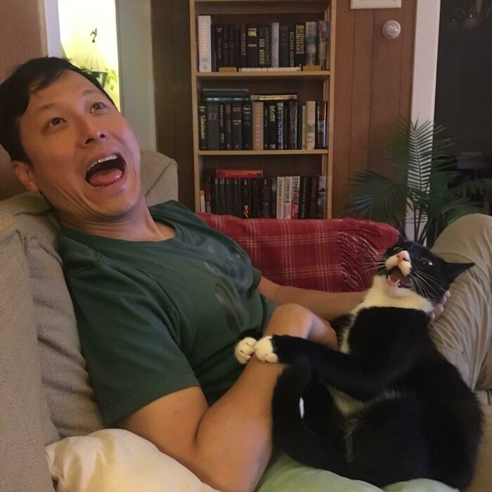 """""""Mojego chłopaka i mojego kota łączy specjalna więź. Czuję się niczym piąte koło u wozu."""""""