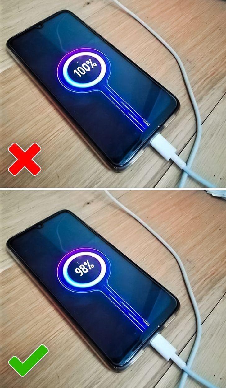 2. Ładujesz baterię na 100%.