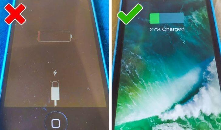 3. Przed podłączeniem telefonu do ładowarki. czekasz aż bateria rozładuje się do końca.