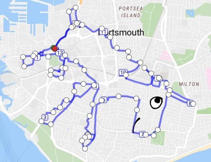 """""""Może i lubicie biegać, ale czy ukończyliście kiedyś trasę jednorożca z Portsmouth? (Poświęciłem na to zdecydowanie zbyt dużo czasu...)"""""""