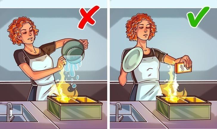 4. Olej palący się w garnku lub frytkownicy