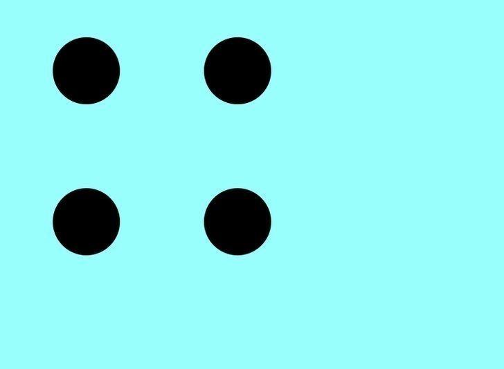 8. Połącz punkty trzema prostymi liniami, bez odrywania palca od ekranu