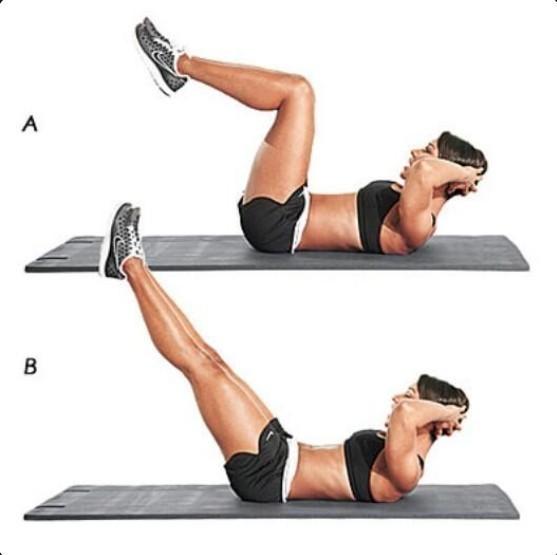 5. Wyprosty nóg bez unoszenia brzucha