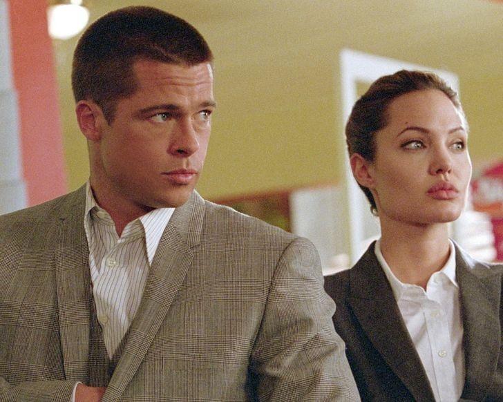 """6. Brad Pitt i Angelina Jolie (John Smith i Jane Smith, """"Pan i Pani Smith"""")"""