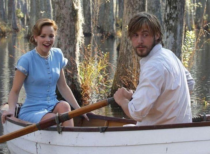 """2. Ryan Gosling i Rachel McAdams (Noah i Allie, """"Pamiętnik"""")"""