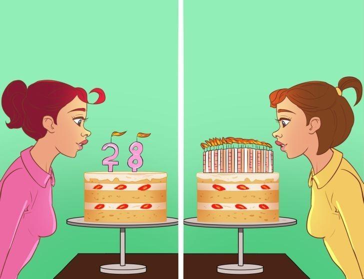 2. Ludzie, którzy ozdabiają tort wieloma świeczkami i ci, którzy wolą świeczki w kształcie cyfr