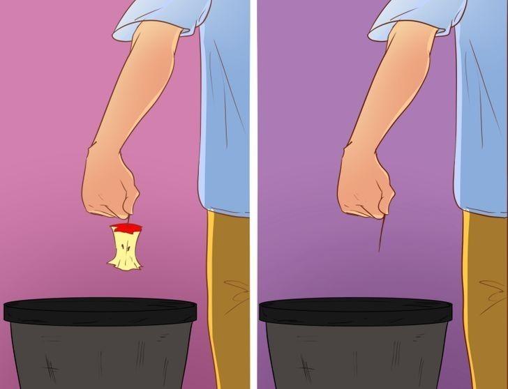 3. Ludzie, którzy zostawiają pół niedojedzonego jabłka i ci, którzy zostawiają wyłącznie ogryzek