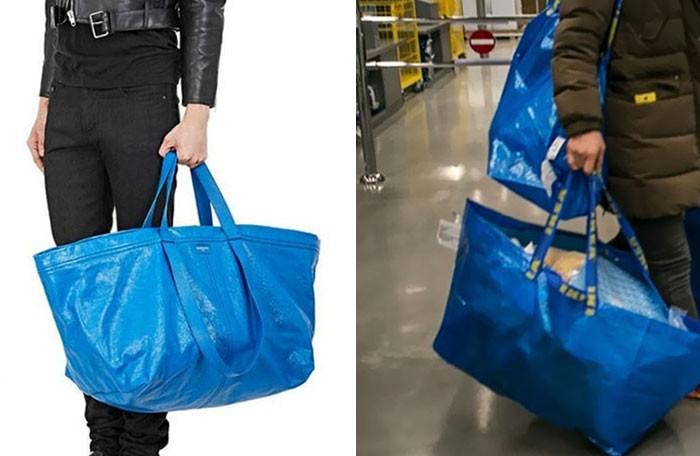 Torba od Balenciagi za ponad 2 tysiące dolarów wygląda niemal identycznie jak siatka z Ikei za 99 centów.