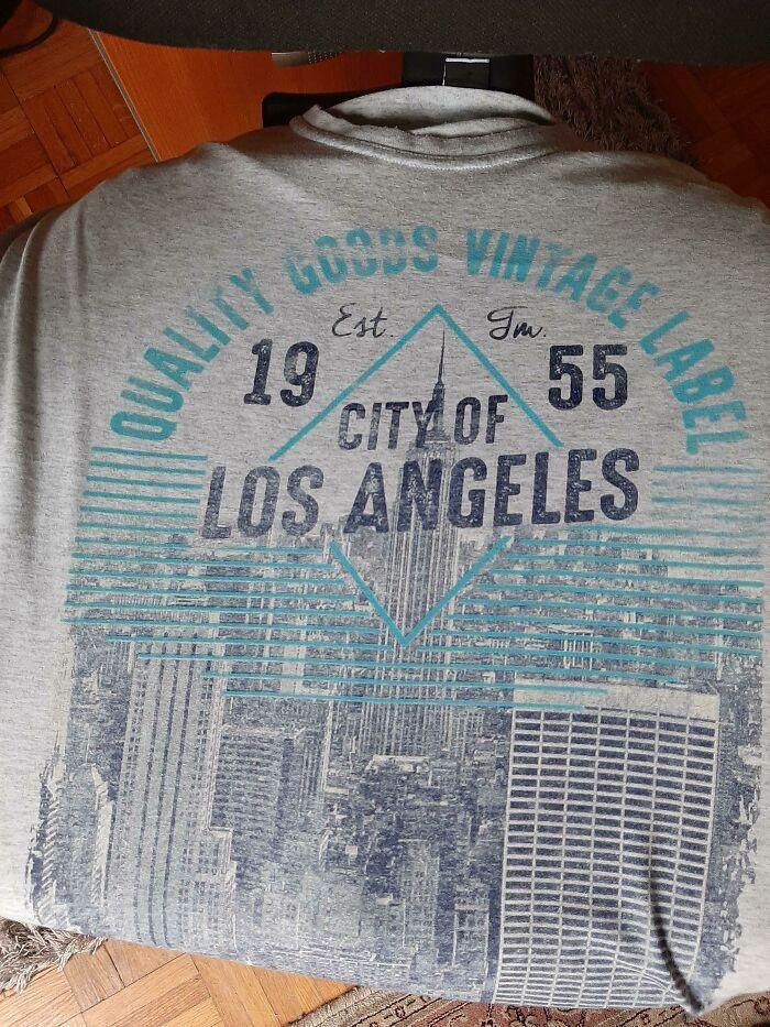 """""""Miasto Los Angeles"""" z panoramą Nowego Jorku"""