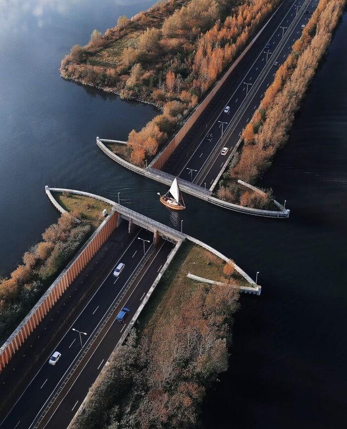 Akwedukt Veluwemeer, Holandia