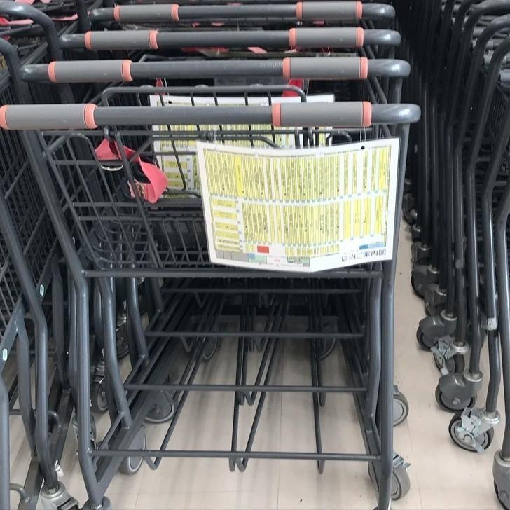 13. Gdy japońskie markety zmieniają rozkład towarów na półkach, zaopatrują klientów w zaktualizowane mapy sklepu.