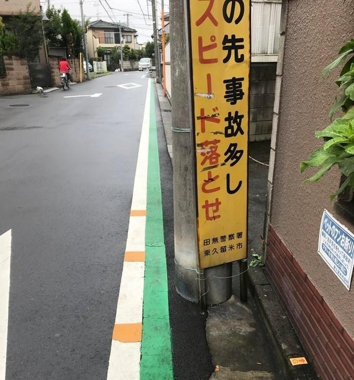 8. Ta zielona linia sygnalizuje drogę, którą dzieci chodzą do szkoły.