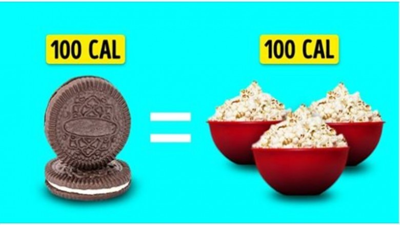 Oto jak wygląda 100 kalorii na przykładzie popularnych produktów spożywczych